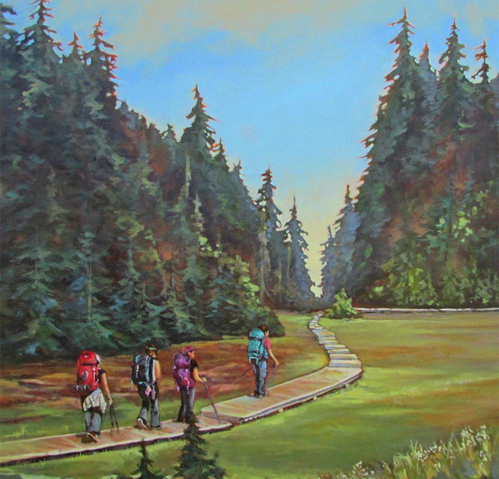 The Long Boardwalk Home