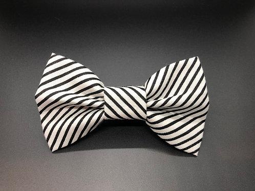Striped Black Bow