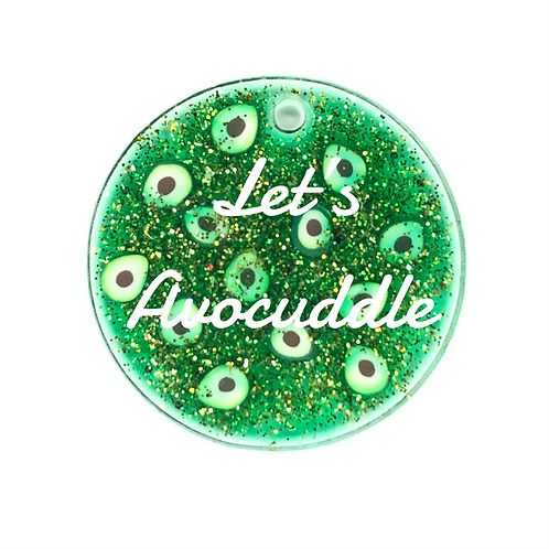 Let's Avocuddle ID Tag