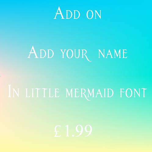 Add-on Mermaid 'Your Name'