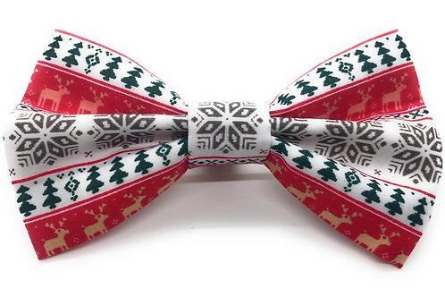 Christmas Geo Print Bow Tie