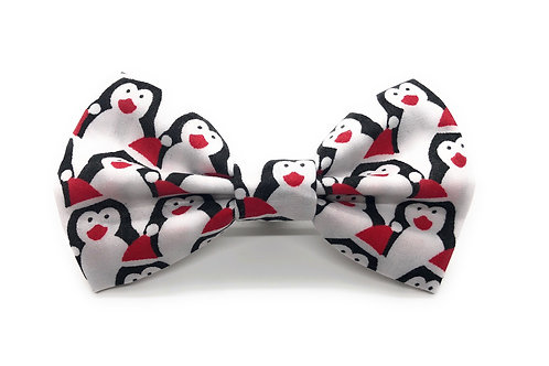 Santa's Penguins Bow Tie
