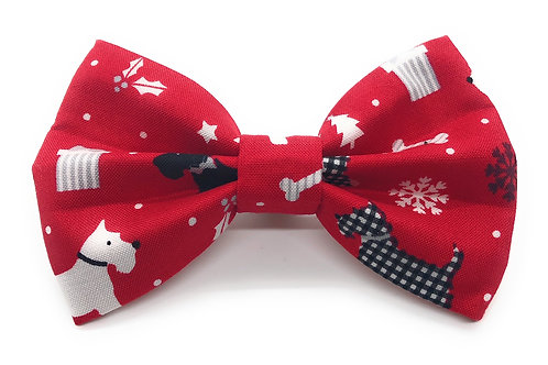 Winter Westies (Red) Bow Tie