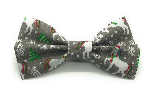 Mint Humbug Unicorns (Grey) Bow Tie