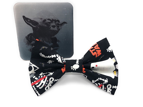 Halloween Glow in the Dark Star Paws Bow Tie