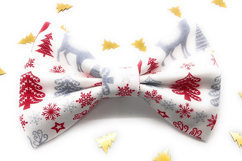 Woodland Stag Bow Tie (White)