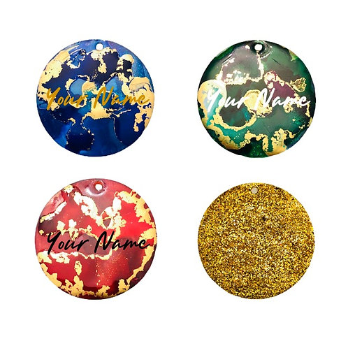 Gold Crackle ID Tag