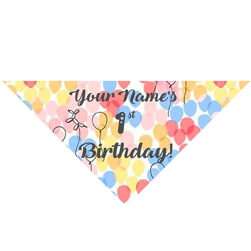 Personalised Birthday Bandana