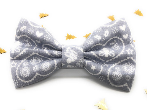Dove Love Bow Tie (Grey)