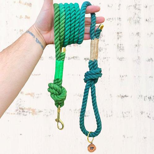 Green Dream Cotton Rope Lead