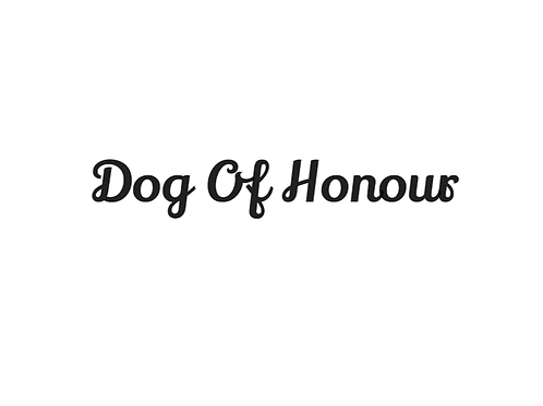 'Dog Of Honour' Bandana - Add On