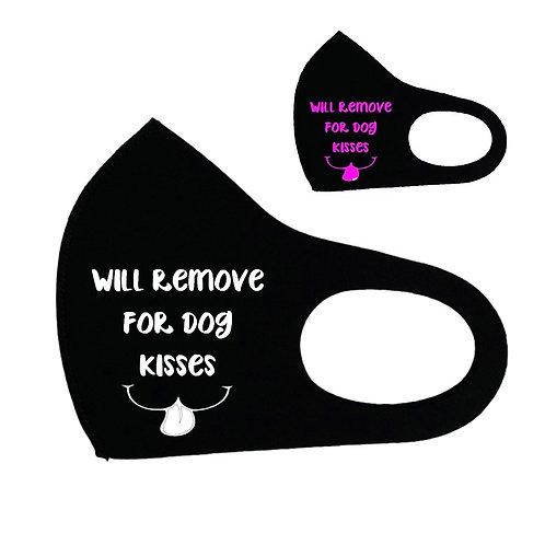Dog Kisses Cotton Face Cover