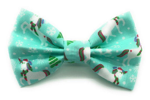 Mint Humbug Unicorns (Mint) Bow Tie