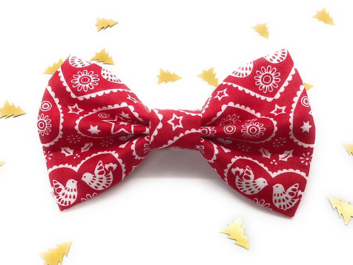 Dove Love Bow Tie (Red)