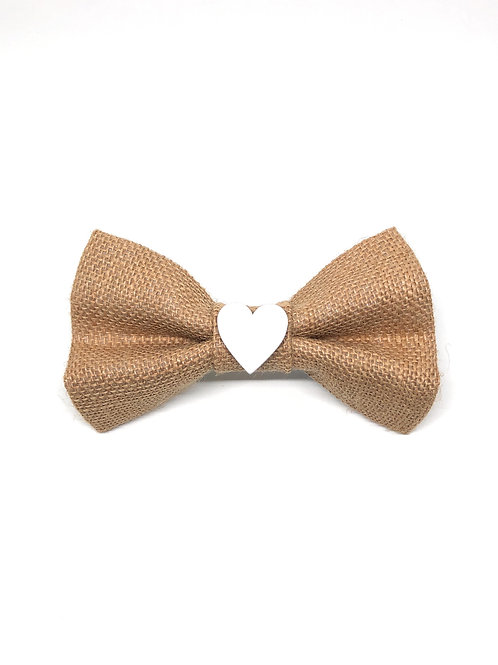 The 'Hessian Hearts' Bow Tie