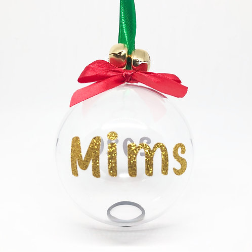 Personalised Name Treat Bauble