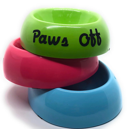 'Paws Off' Small-Medium Food/Water Melamine Bowl