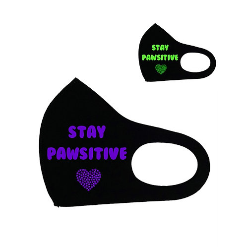 Stay Pawsitive Cotton Face Cover