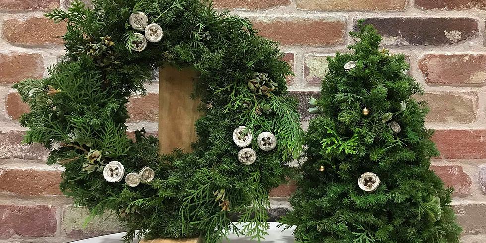 クリスマスツリー&リース作りワークショップ
