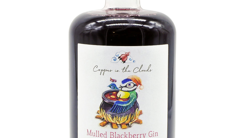 Mulled Blackberry Gin Liqueur - Copper in the Clouds