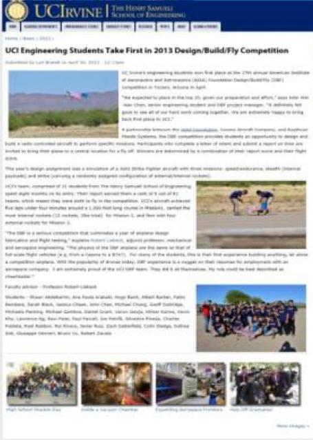 UCI Newsletter