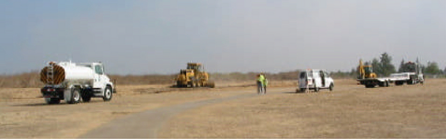 Work on the airfield