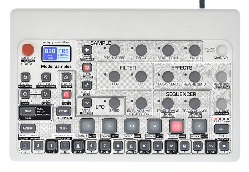 """Pattern Sequencer + Keys"" Overlay For Elektron Model:Samples"