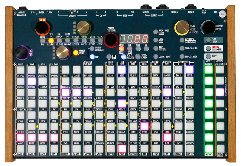 """""""Abyss Minimal"""" Overlay For Synthstrom Deluge"""