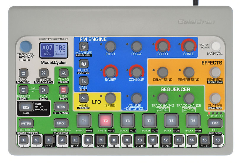 """Max Colors"" Overlay For Elektron Model:Cycles"