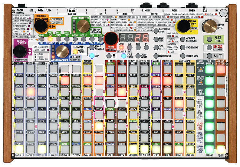 """""""White MaxColors"""" Overlay For Synthstrom Deluge"""