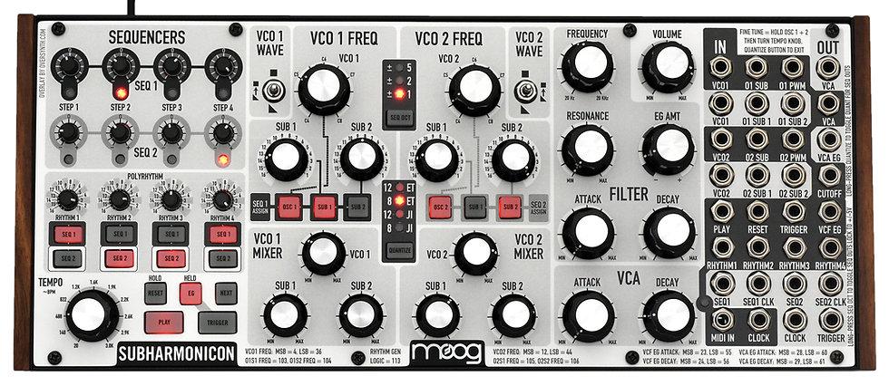 """""""Whitephase"""" Overlay For Moog Subharmonicon"""