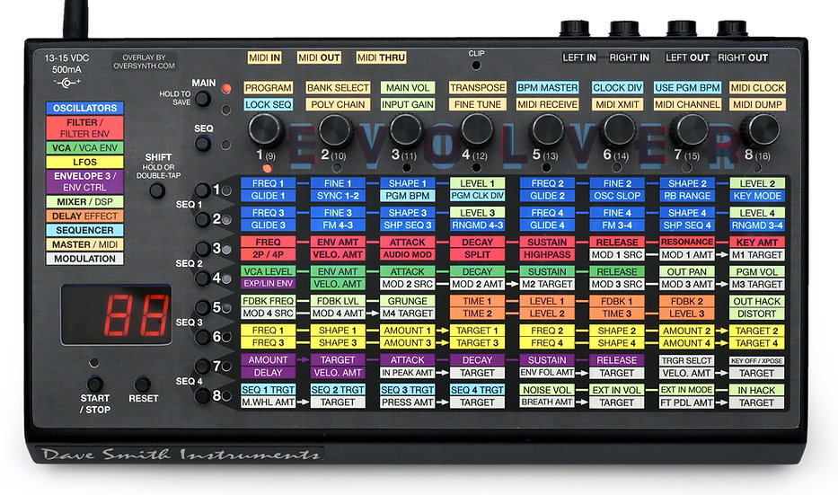 Overlay For DSI Evolver Desktop