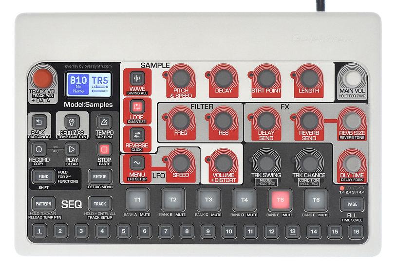 """Tokyo (No Piano Keys Along Bottom)"" Overlay For Elektron Model:Samples"