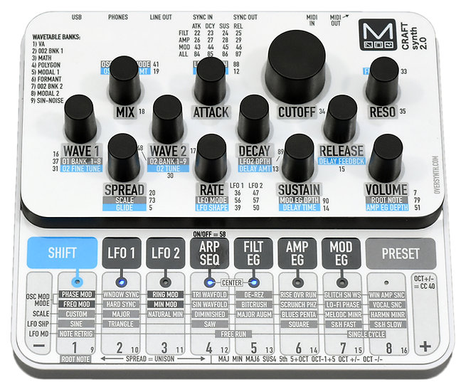 """""""Glacier"""" Sticker Overlay for Modal Craft Synth 2.0 (Skin)"""