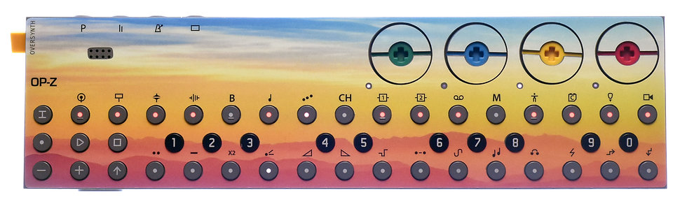 """Sunbleached Expanse"" Sticker Overlay for Teenage Engineering OP-Z (OP-Z Skins)"