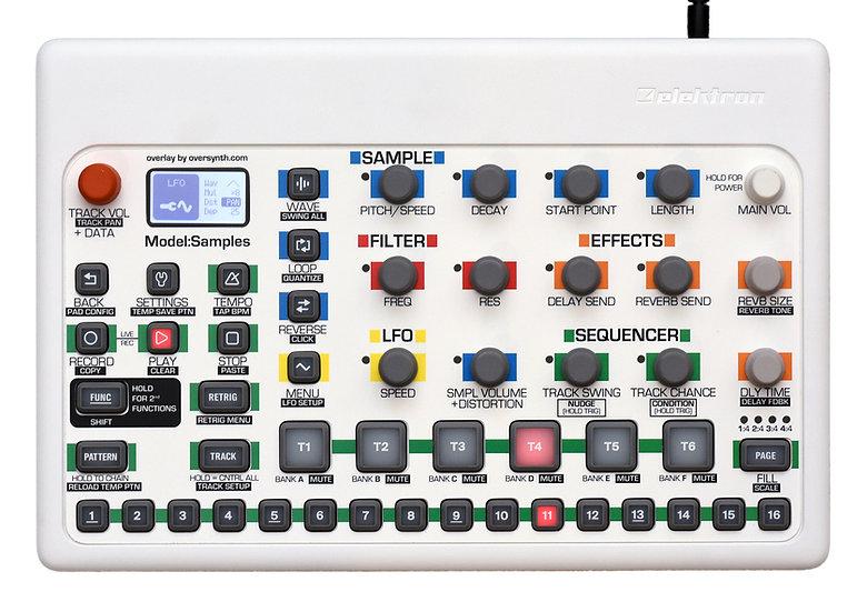 """""""Max White"""" Overlay For Elektron Model:Samples"""