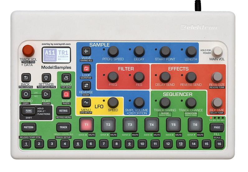 """Max Colors"" Overlay For Elektron Model:Samples"