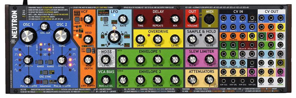 """""""V2 Firmware Colors"""" Overlay For Behringer Neutron"""