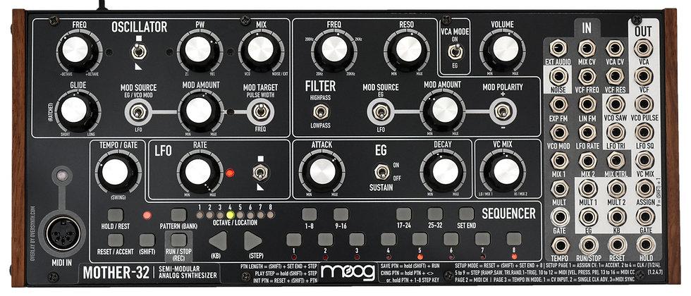 """Blackphase"" Overlay For Moog Mother-32"