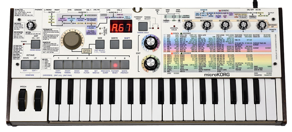 """Korg MicroKorg """"Sunbleached Spectra"""" Front Panel Overlay"""
