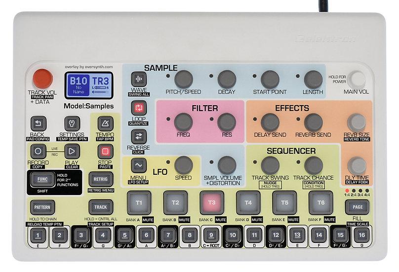 """""""Sunbleach+Keys"""" Overlay For Elektron Model:Samples"""