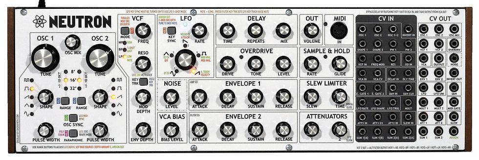 """Behringer Neutron """"V2 Firmware Whitephase"""" Front Panel Overlay"""