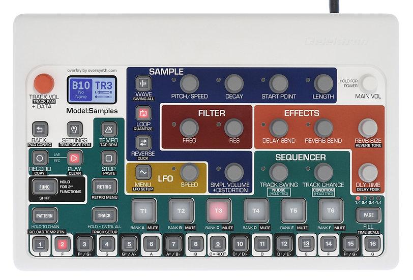 """""""Foxwalker+Keys"""" Overlay For Elektron Model:Samples"""
