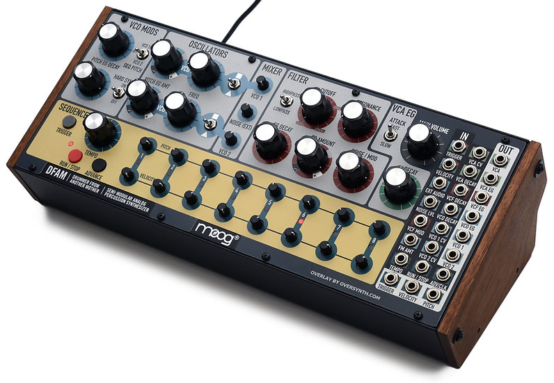 """Tesla"" Overlay For Moog DFAM"