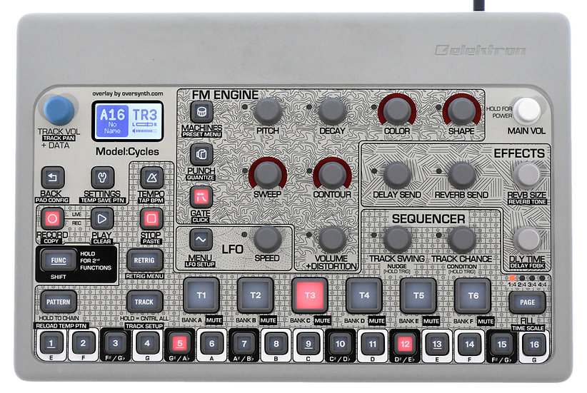 """""""Pattern Sequencer"""" Overlay For Elektron Model:Cycles"""