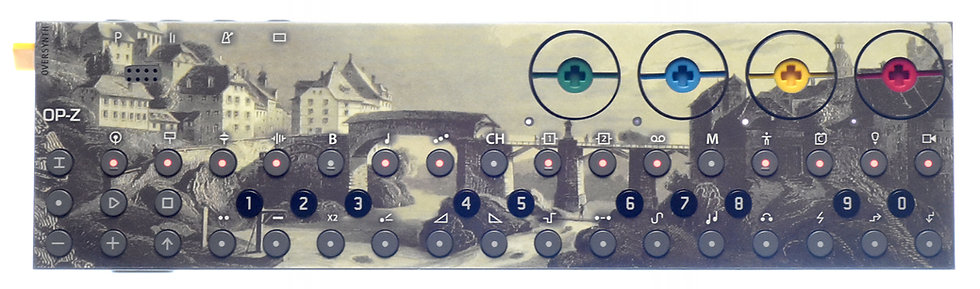 """Vintage Bridge"" Sticker Overlay for Teenage Engineering OP-Z (OP-Z Skins)"