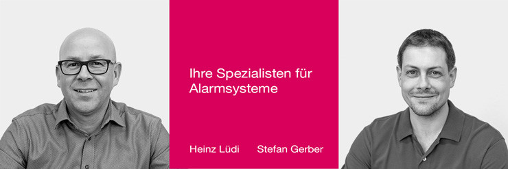 Heinz Lüdi und Stefan Gerber. Ihre Spezialisten und Ansprechpartner für Alarmsysteme bei Pauli Elektro.