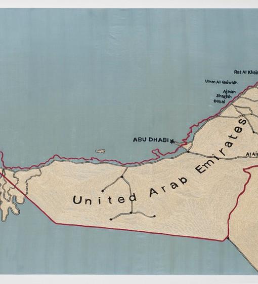 Map of UAE 2010