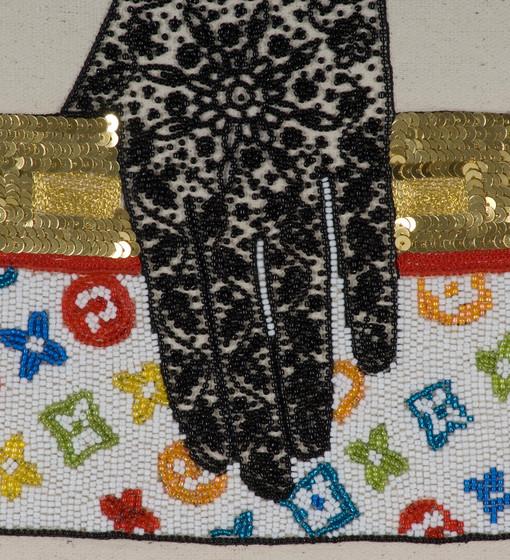 LV hand bag and Henna ( close -up) 2008