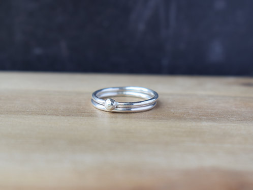 DEW SILVER STACKING RINGS